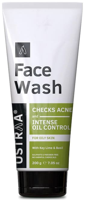 Ustraa Face Wash Oily Skin (Checks Acne & Oil Control) - 200g