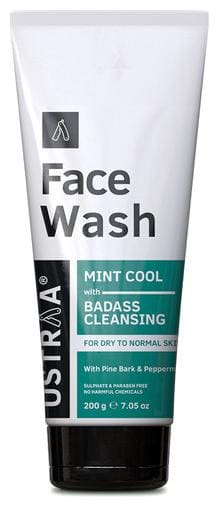 Ustraa Face Wash - Dry Skin (Mint Cool) - 200g