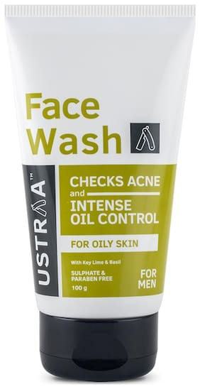 Ustraa Face Wash - Oily Skin (Checks Acne & Oil Control) - 100g