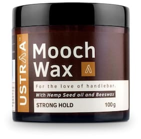 USTRAA Mooch Wax For Men (Strong Hold) - 100 gm