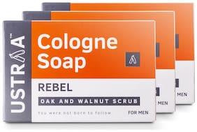 Ustraa Rebel Cologne Soap With Oak & Walnut 125 g (Pack of 3)