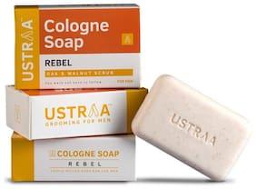 Ustraa Rebel Cologne Soap With Oak & Walnut 125 gm (Pack of 3)