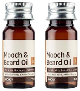 USTRAA Woody Mooch & Beard Oil  35 ml (Pack of 2)