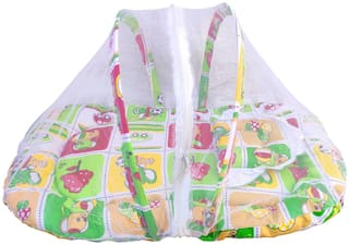 V.B.K Baby Mosquito Net Bed With Pillow(Multi Colored)
