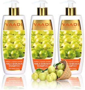 Vaadi Herbals Value   Amla Shikakai Shampoo - Hairfall & Damage Control  - 350ml(Pack of 3)