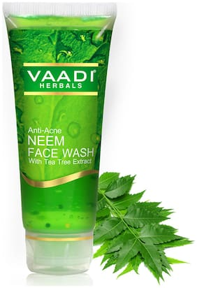 Vaadi Herbals Anti-Acne NEEM FACE WASH with Tea Tree extract - 60ml(Pack of 1)