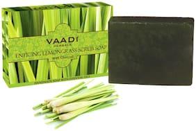 Vaadi Herbals ENTICING LEMONGRASS SCRUB SOAP - 75g(Pack of 1)
