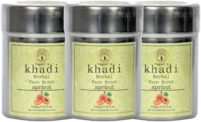 Vagad`s Khadi Apricot scrub Pack of 3 100gm Each