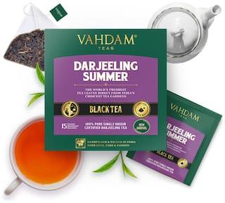 VAHDAM Teas Darjeeling Summer Black Tea - 15 Tea Bags 2g Each