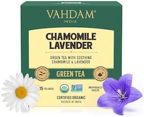 Vahdam Teas Chamomile Lavender Green Tea ( 15 Tea Bags x 2g ) Pack Of 1