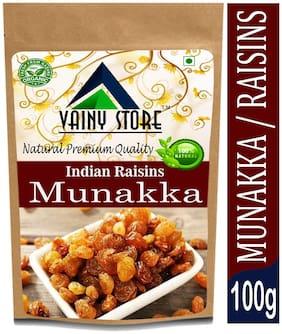 Vainy store Natural Premium Dry Fruit Munakka with Seeds king size Raisins 100g (Pack Of 1)