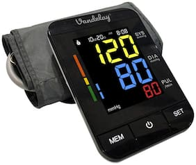 Vandelay Blood Pressure Monitor ARM Fully automatic  One Touch to Use (Black)