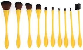 Vander 10pcs Brand New Beauty Small Waist Makeup Brush Yellow
