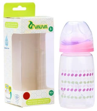 Vauva Bottle - Feeding  Wide Neck  Assorted Color 300 ml