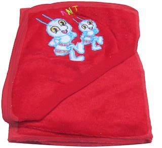 VBaby 3 in 1 Soft Hood 100% Terry cotton wrapper blanket bath towel (0-12 months)