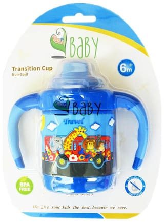 VBaby Animal Bus Sipper Feeding Cups BPA Free Transition Cup No Spill Baby Cup With Handle 200ml Multi Color Pack of 1