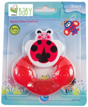 VBaby BPA Free Tooth Gel Silicone Bubblebee Shape Rattle Baby Toy Soothers Food Nibbler food Feeder Dental Care Teether Sterilized Water Filled Teether Age 3+ Months