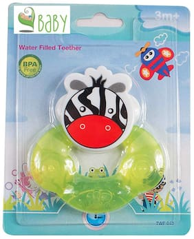 VBaby BPA Free Tooth Gel Silicone Zebra Shape Rattle Baby Toy Soothers Food Nibbler food Feeder Dental Care Teether Sterilized Water Filled Teether Age 3+ Months