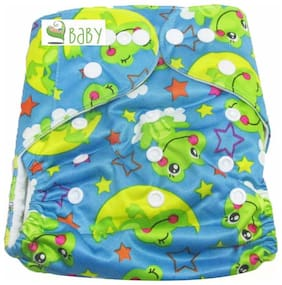 VBaby Froggy Printed Cloth Diaper REUSABLE Nappy Organic Fabric Anti Bacterial Washable,Reusable Cloth Diaper With 1  Cotton Insert Lining 0-2 Years