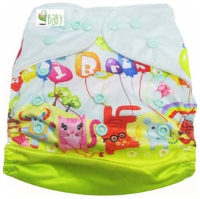 VBaby Happy Birthday Printed Cloth Diaper REUSABLE Nappy Organic Fabric Anti Bacterial Washable,Reusable Cloth Diaper With 1  Cotton Insert Lining 0-2 Years