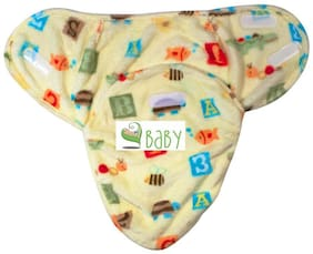 VBaby  Sitting on the branch Owl and Flower Double Side Print Comfortable Swaddle Blanket Adjustable Infant Wrap With Velcro Closure Soft Furry.0-6 months Multi color (Pack of 1)