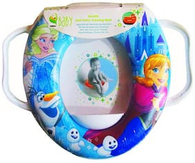 VBaby Soft Comfortable Cartoon Full Cushion Potty Seat Toilet Seat Potty Trainer Seat with Handle