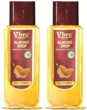 Vbro Skin Care Almond Drops Non Sticky Hair Oil 500 ml (Pack Of 2)