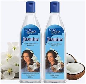 VBRO Skin Care Advance Jasmine & Coconut Milky Hair Oil 200ml (Pack of 2)