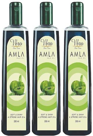 Vbro Skin Care Amla Hair Oil 200 ml (Pack Of 3)