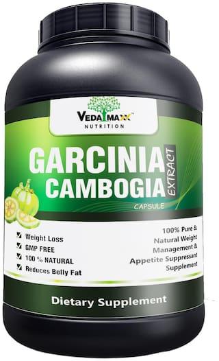 Veda Maxx Garcinia Cambogia Extract 100 Veg Weight Loss Fat Burner Supplement 500mg 60 Capsules