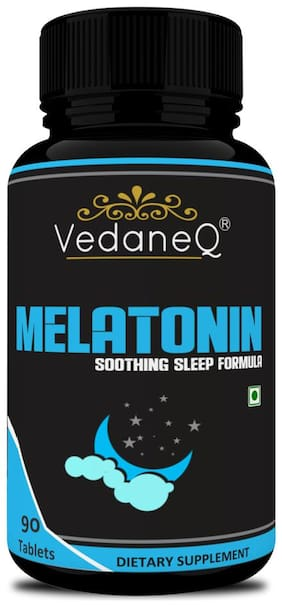 VedaneQ Melatonin 10mg Tablets,Helps You Fall Asleep Faster,Longer 90 Tablets