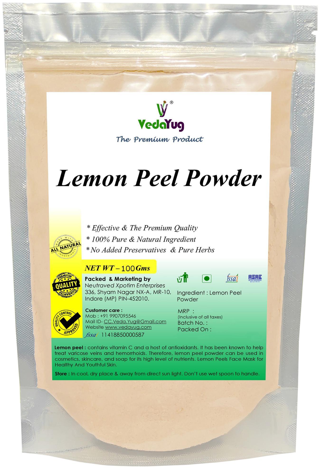 VedaYug Lemon Peel Powder/ Natural Face Pack (100 Gram)