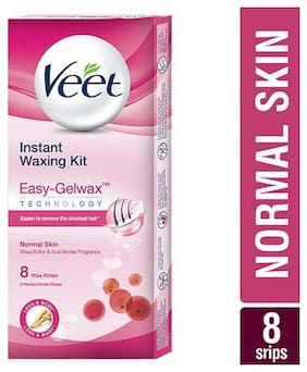 Veet Instant  Waxing Kit - Normal Skin 8 Strips