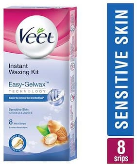 Veet Full Body Waxing Kit - Sensitive Skin 8 Strips
