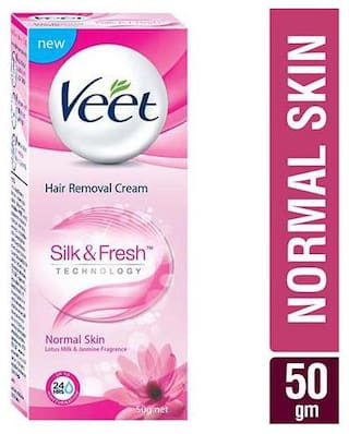 Buy Veet Hair Removal Cream Silk Fresh Normal Skin 50 G Online