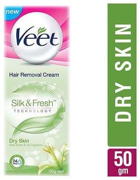 Veet Hair Removal Cream Silk & Fresh  Dry Skin 50 Gm