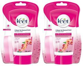 Veet In-shower Hair Removal Cream;Normal Skin - 150 ml Each (Pack of 2)
