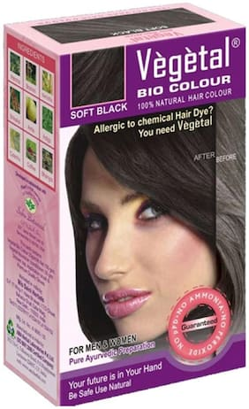 Vegetal Bio Hair Colour 150gm (Soft Black)