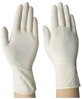 Vekariya Non-Sterile Latex Medical Examination Disposable Gloves ( Pack Of 30 pcs ) ( 15 Pair )