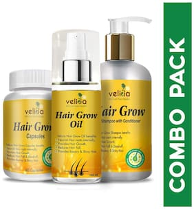 Velicia 100% Ayurvedic Hair Kit