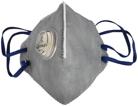 Venus V410 Anti Pollution Activate Virus Protection-N95 Mask ISI Marked With Filter Valve - Grey (Pack of 1)