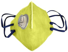 Venus V410 Face Mask For Dust Control (Pack of 1) Yellow