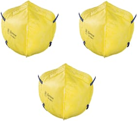 Venus V44++ Face Mask Yellow ( Pack Of 3 )