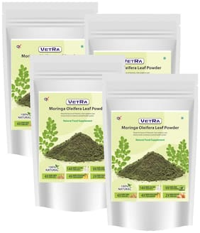 Vetra Organic Moringa oleifera Leaf Powder 250g (Pack of 4)