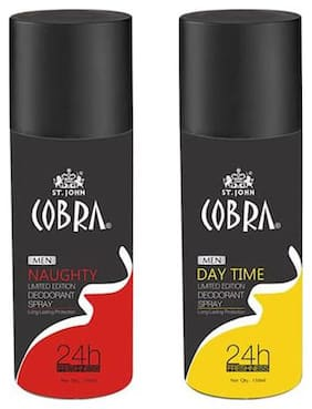 Vi-John Cobra Deo Naughty & DayTime 150ml Pack of 2