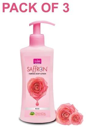 Vi John Saffron  Body Lotion Rose 250ml (Pack of 3)