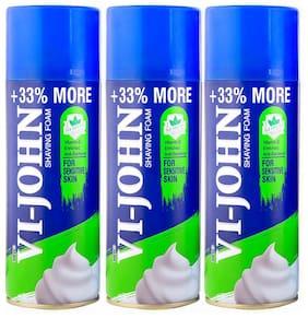 VI-JOHN Shave Foam 400 gm Sensitive Skin Set of 3