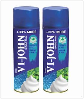 VI-JOHN Shave Foam Mint & Marine 400 gm (Pack of 2)
