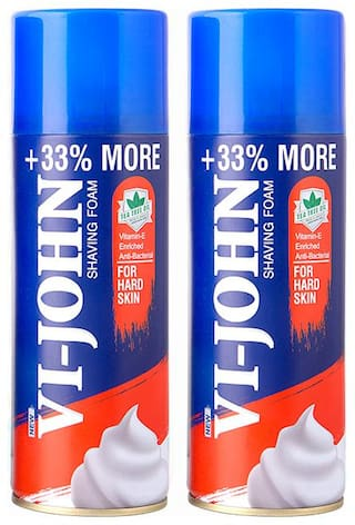VI-JOHN Shave Foam 400 g Hard Skin Set of 2