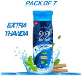 VI-JOHN Talcum Powder For Men/Women- 22 deg Extra Thhanda 100 g Pack of 7
